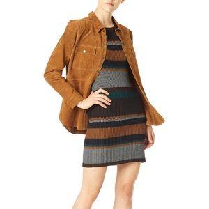 Sanctuary Veronique Rib Knit Dress Brown Autumn
